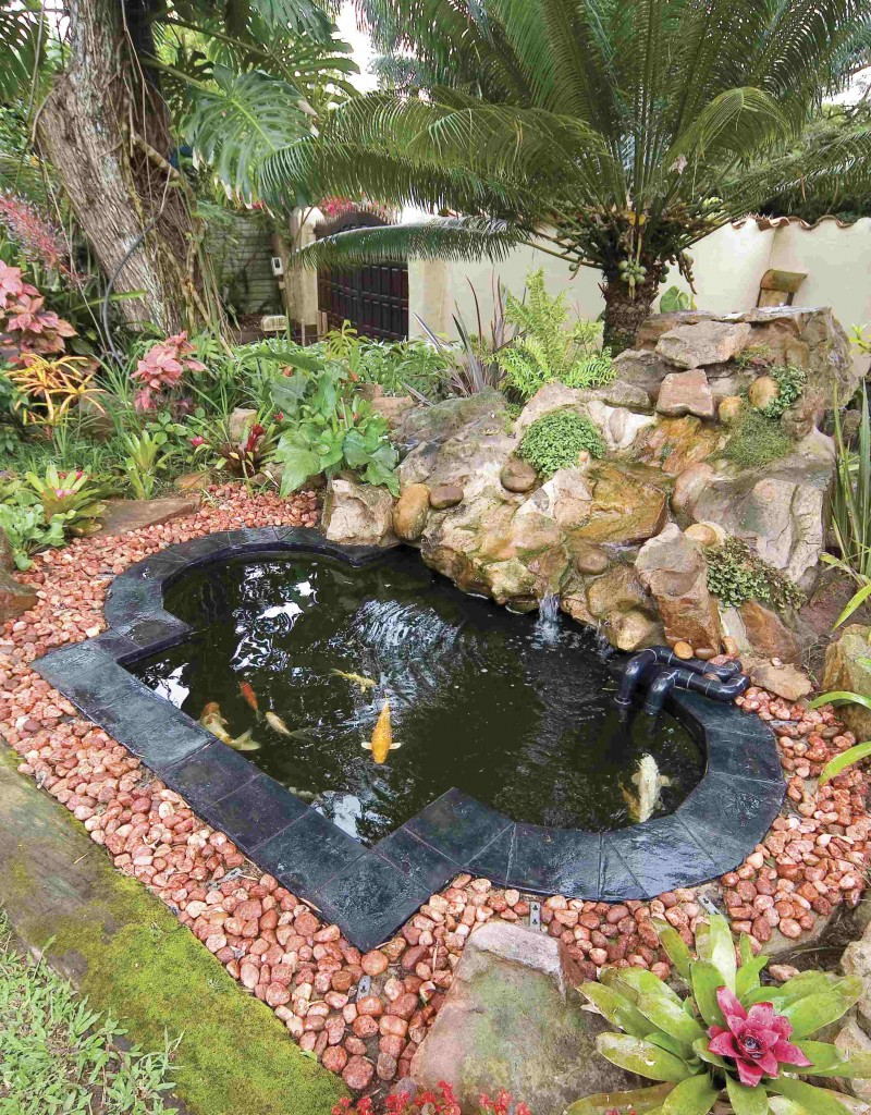 Fibreglass water feature ponds for Koi carp pond design